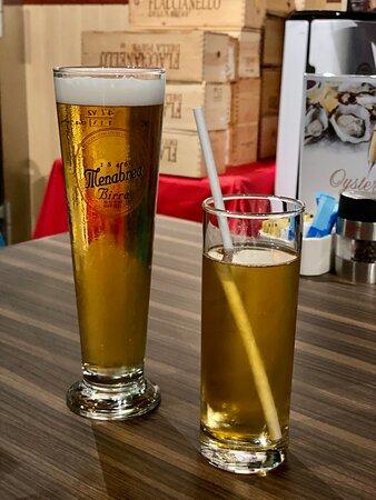 - Menabrea Draft Beer $42 (HH) - Apple Juice $45