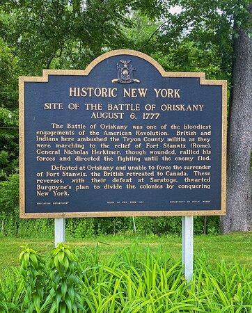 Oriskany Battlefield memorial