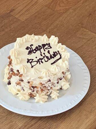 Surprise birthday cake