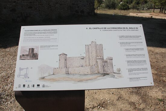 Otro panel informativo del castillo