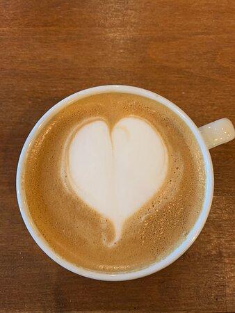 Cappuccino fait avec amour …