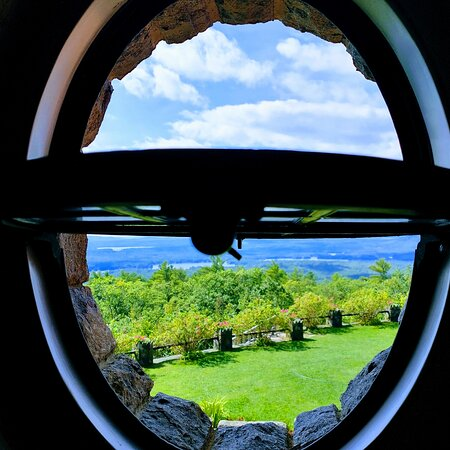 View from inside castle in the clouds