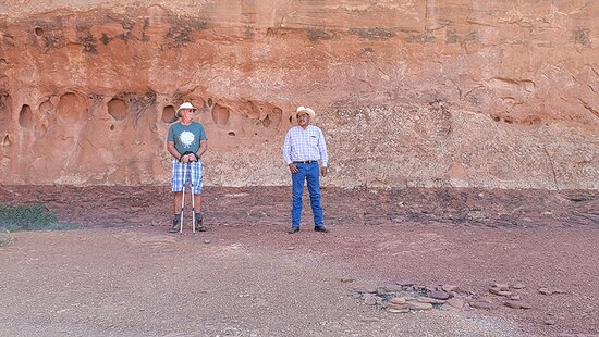 Monument Valley, UT: Tribal guide Larry and Walt.  He was telling us the history of the area.