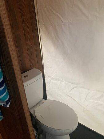 Under Canvas toilet