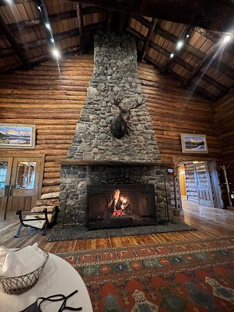 Always lit fireplace