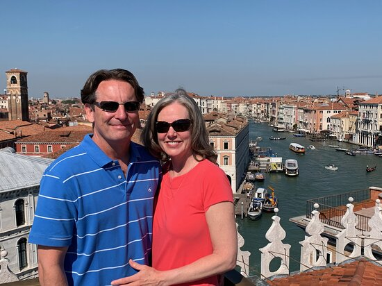Private Hidden Venice & Grand Canal Boat Tour + Murano Glassblowing: From a Venice rooftop - Alvise will show you where it is.