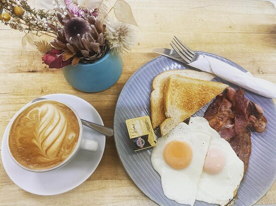 Bacon & Egg with a regular coffee special. Available on Monday and Tuesday.
