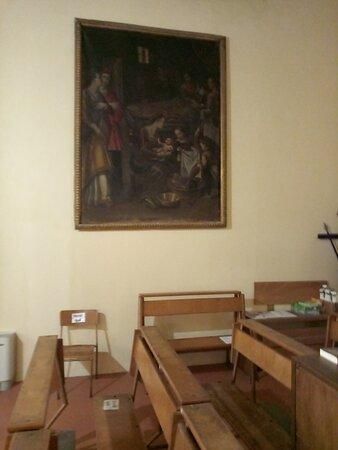 Spettacolare natività di Maria, opera del Bronzino, nella chiesa di Santa Maria Assunta a Ambra.Suggestive le due figure femminili sulla sinistra, delle quali una è incinta.