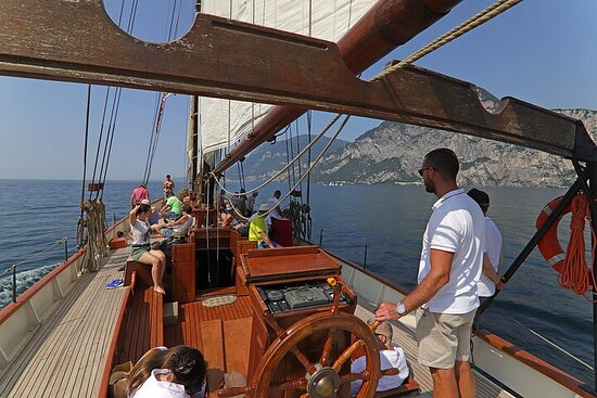 Long Cruise with Sailing Ship from Malcesine to Gargnano