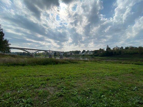 Staritsky bridge across the Volga