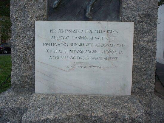 Monumento all'Aviatore - Caduti dell'Aria