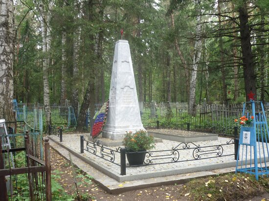 Mass Grave of Soviet Soldiers Who Died of Wounds in Hospitals during the Great Patriotic War