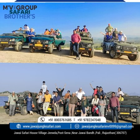 Jawai Bandh, India: Let's join in the journey to-Jeewda&Sena Village In - Jawai- Rajasthan!   👉Swipe to know @jawaisafarimvgroup   More about JAWAI  ⚛️M'v Group Safaris Brother's ⚛️  👉 Leopard Safari,  Leopards, Other Attractions & Nearby Sightseeing.   ➡️Discover the JAWAI with JUNGLE ➡️LIFE SAFARI .......🐆💫 ➡️Jungle Safari   ➡️Trained Drivers & Guides   Luxury Stay    👉Sightseeing & Other Activities For More details  👉 Contact us here: Call: +91 8️⃣0️⃣0️⃣3️⃣7️⃣6️⃣1️⃣6️⃣8️⃣5️⃣  Thank you for contacting