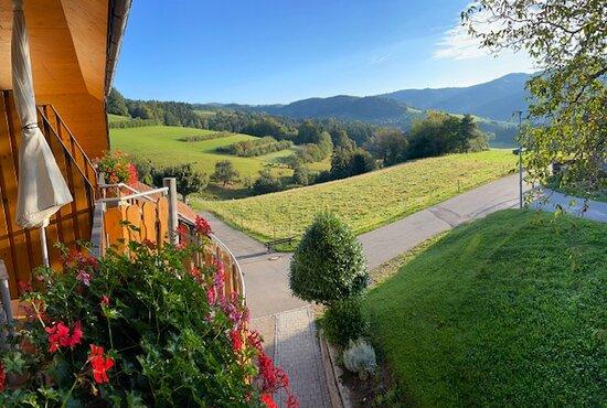 Kleines Wiesental, Duitsland: Uitzicht vanaf ons balkon.