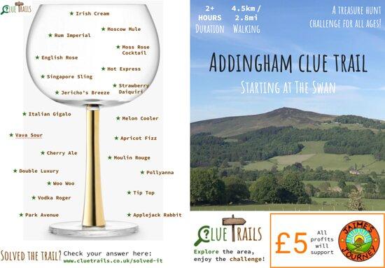 Addingham Clue Trail cover (front & back) - available online www.cluetrails.co.uk/shop