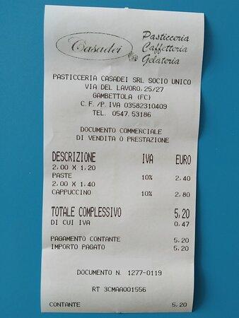 Gambettola, Italy: Prezzi medio-alti