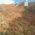 紅葉の仁田峠山頂へロープーウェイで。