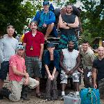 the crew from Omega and the 6 brave people who signed up for 13 days of adventure!