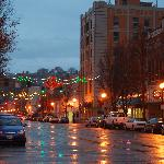 The holiday season brings out the festive in Historic Downtown Pendleton.