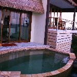 Private jacuzzi plunge pool on balcony