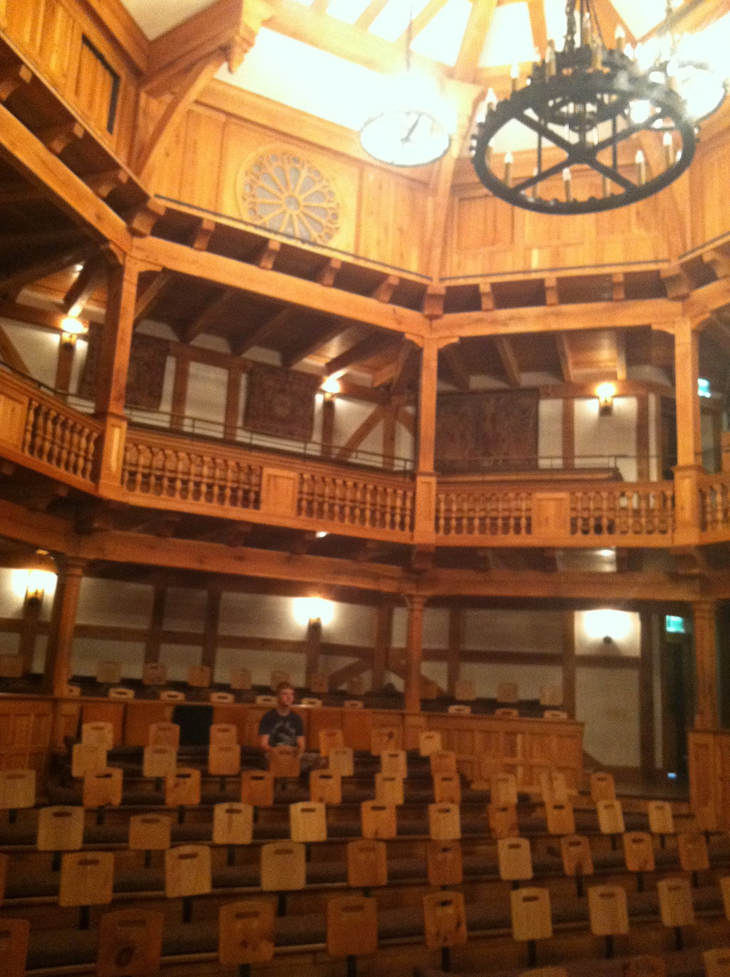 view of the theater from the stage