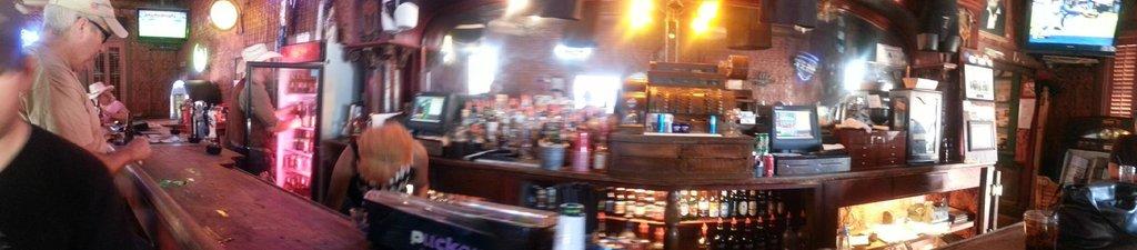 Panorama of original 1800s bar