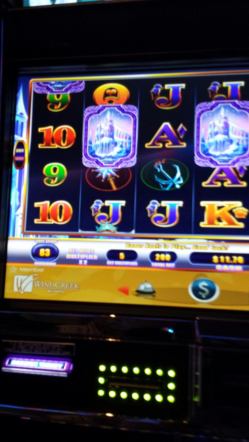 Notice that I have 83 spins left out of 100 betting the max, yet I only have $15! When it was do