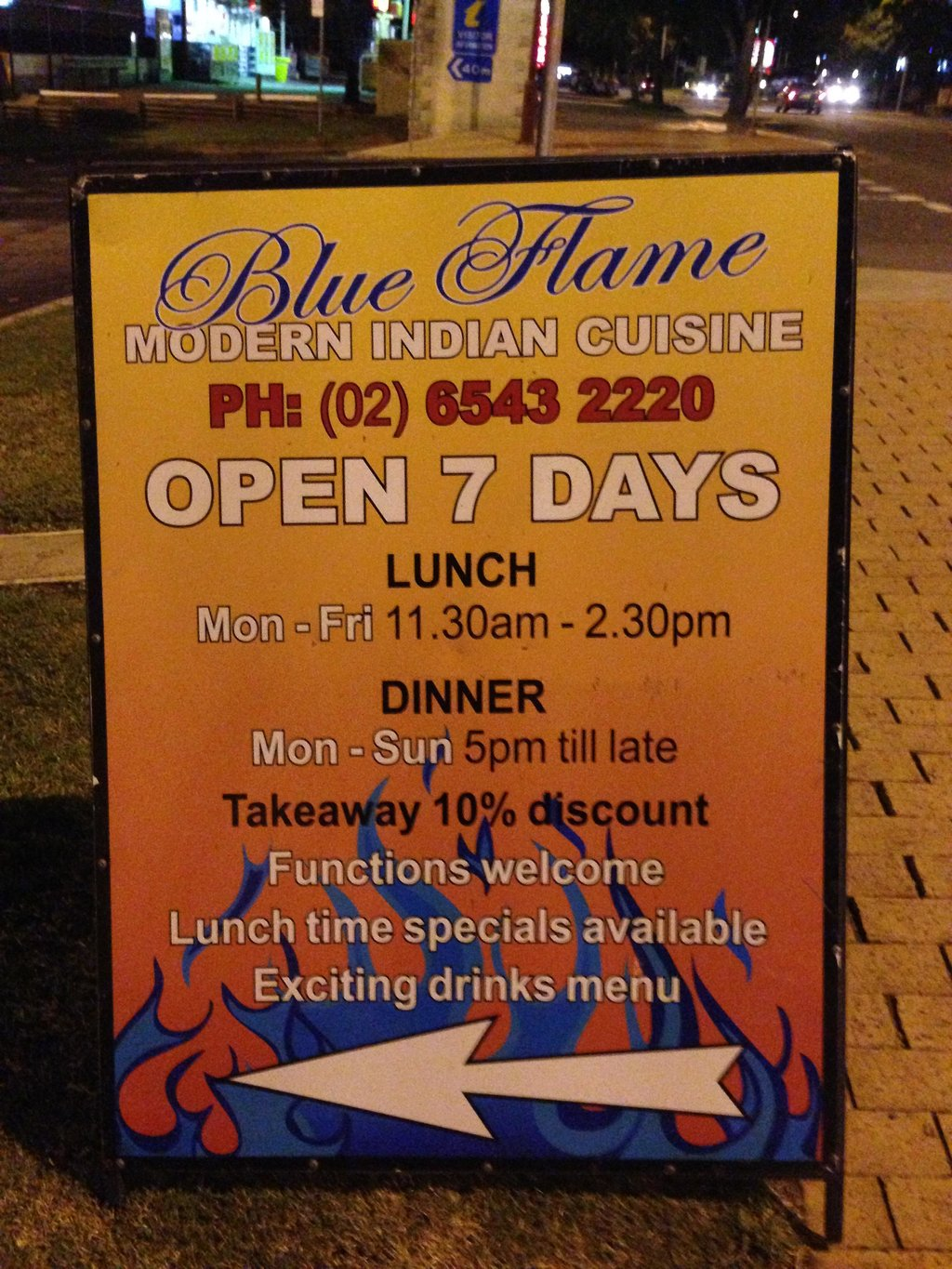Blue Flame Modern Indian
