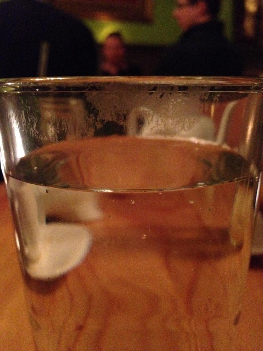 Dirty water glass