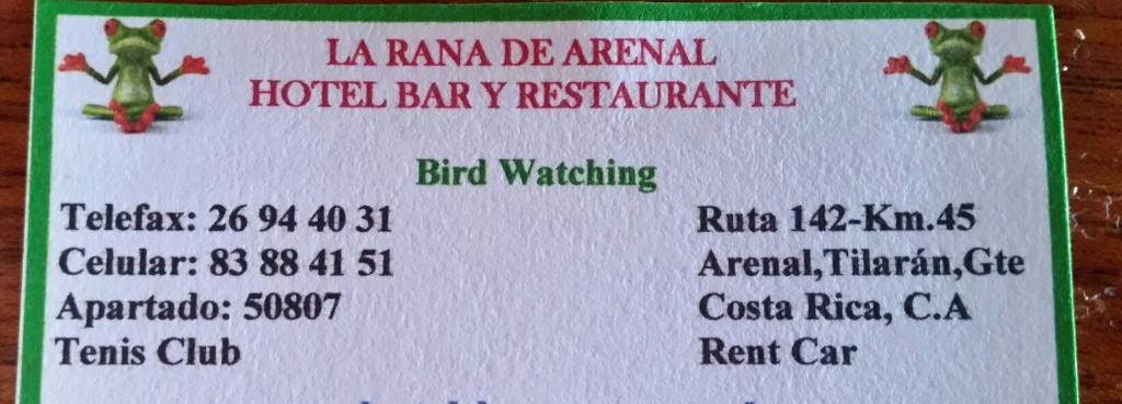 La Rana de Arenal