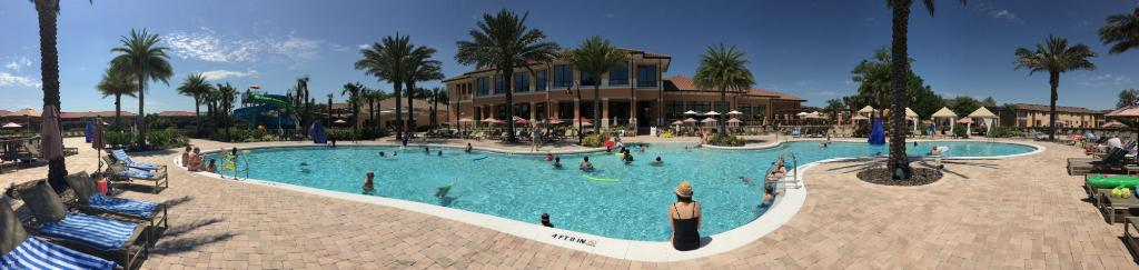 A beautiful Panoramic of entire Pool Area