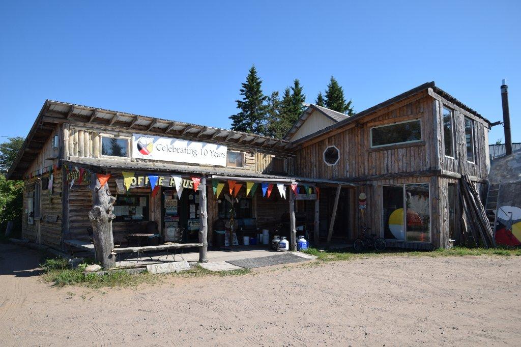 Dancing Crane Coffee House   12072 W Lakeshore Dr, Brimley, MI, 49715   +1 (906) 248-3387