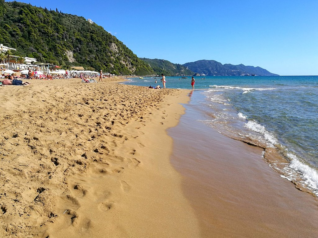 Glyfada Beach, Corfu Greece.