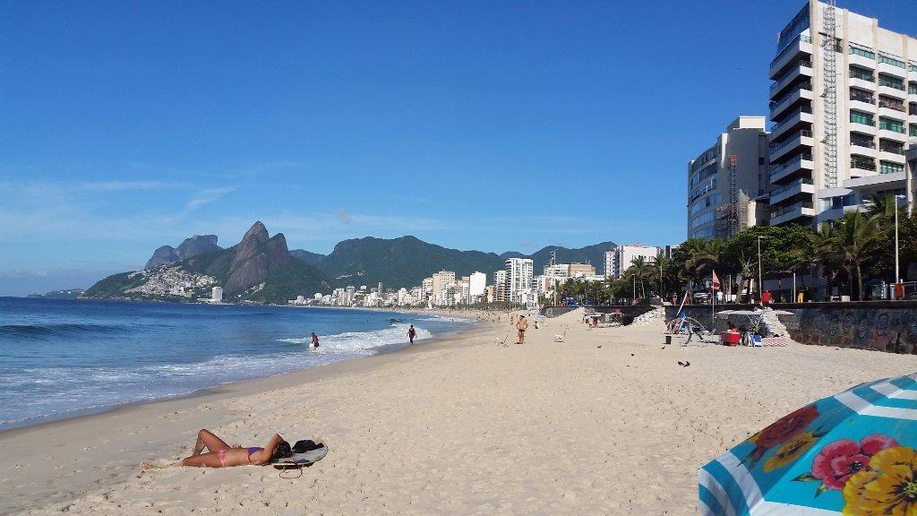 пляж Ипанема в солнечный день (301889451)
