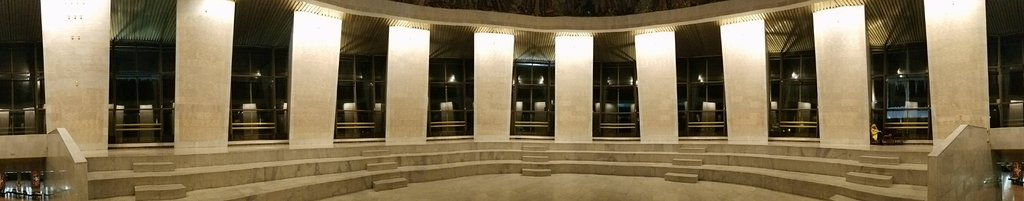 Memorial to fallen soldiers. Each pillar has their names inscribed
