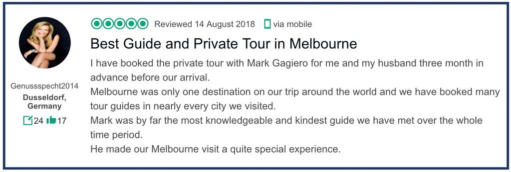 Marks Melbourne Private Tours
