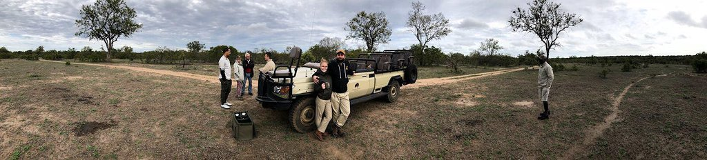 """""""Sun downer"""" during our after lunch game drive."""