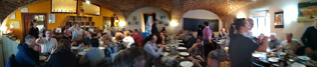 Panoramica della sala da pranzo