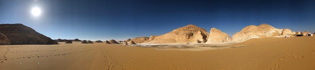 Desert Panorama an the Camp