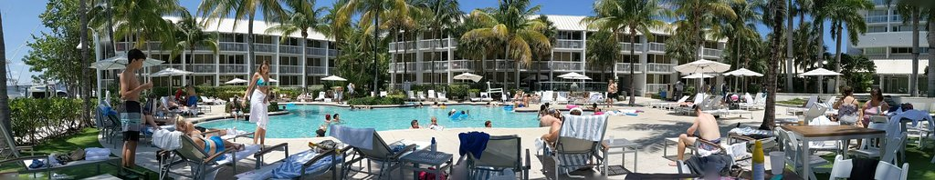 Great view of the pool from a lounge chair by the bar/grill