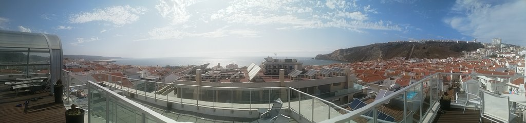 View from the rooftop pool area