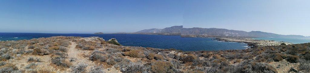 Panorama dall'alto dell'isola