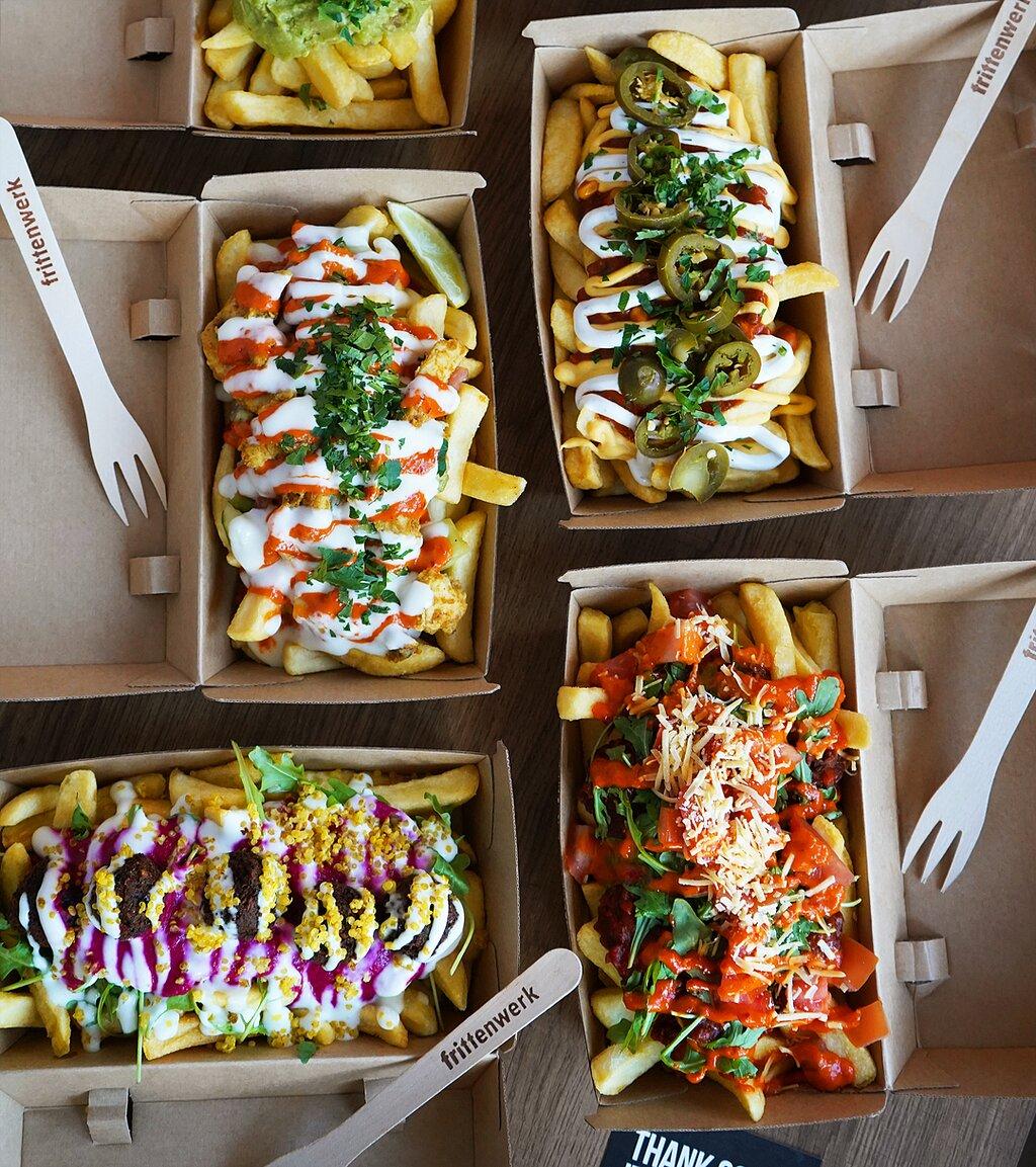 Poutine Party: Chicken Shawarma, Chili Cheese Fries, Bolofritten, Pink Persia und Tijuana Street Fries
