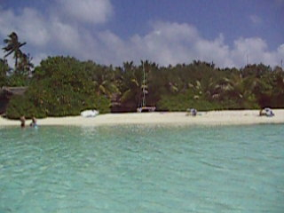 View od makunudu island from the beach