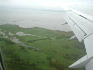 Flying in to Shannon, Bunratty Castle