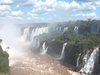 Foz do Iguaçu, PR: Video along length of falls