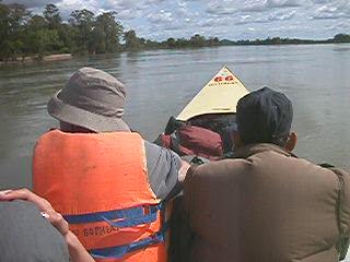 Siem Reap, Cambodia: Dangerously fast speedboat ride Lao - Cambodia