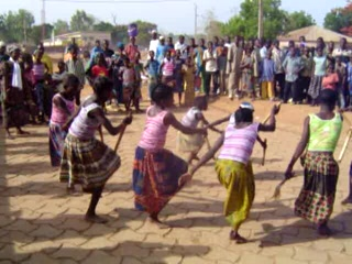 Benin: Bariba Girls Perform Traditional Teke Dance