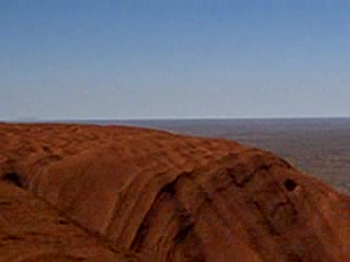 Adelaide, Australien: 37 - Helluva view. Almost at the top of Ayers rock