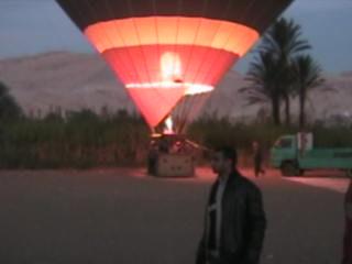 Luxor, Egypt: 04. Anita's early morning greeting